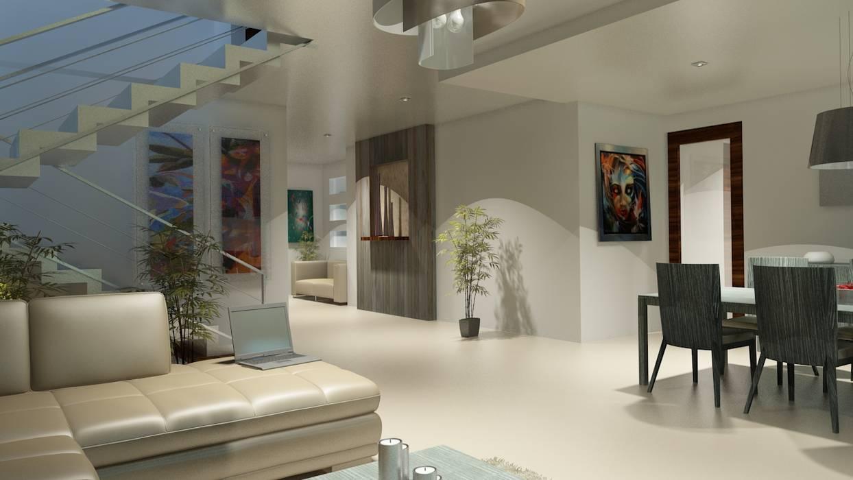 Couloir, entrée, escaliers modernes par CouturierStudio Moderne