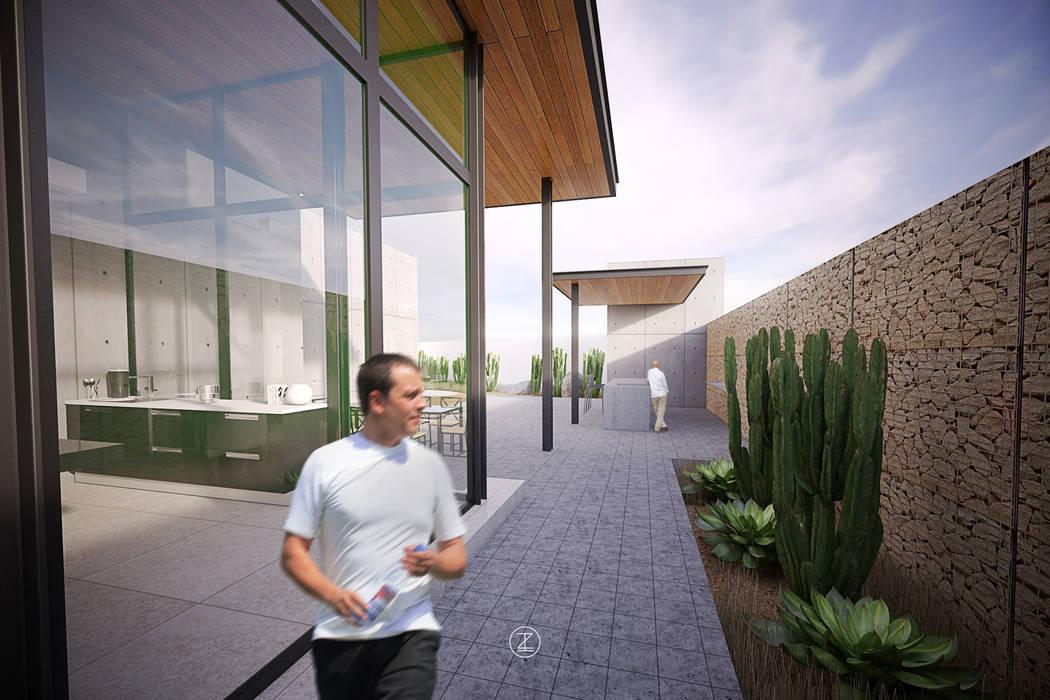 Terrace by Lozano Arquitectos, Modern Concrete