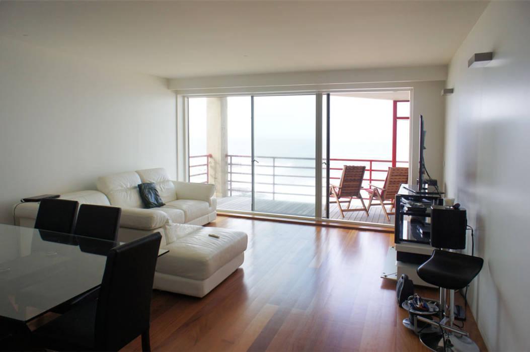 Apartamento T2 - Povoa de Varzim Salas de estar modernas por B3C Moderno