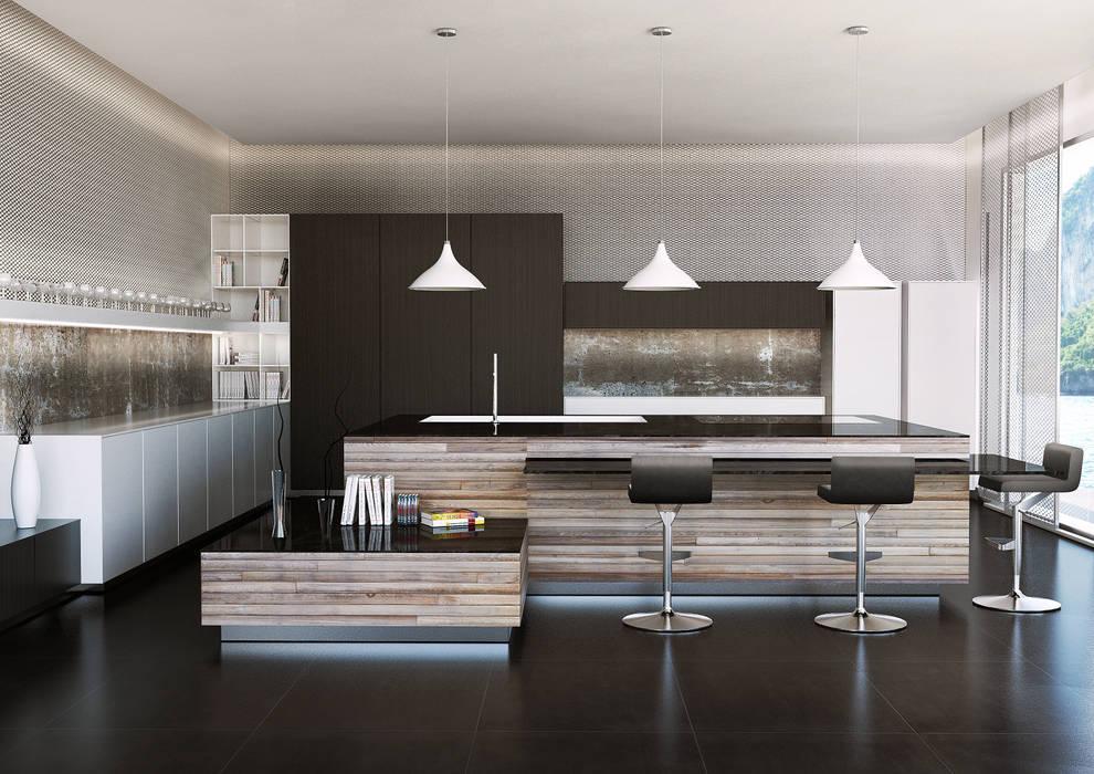 Render di interni: Cucina in stile  di Giuseppe Balestri