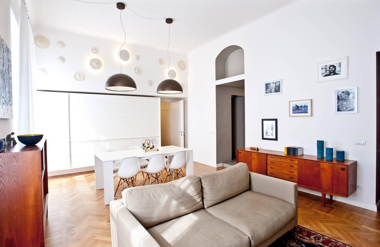 Casa a due altezze disegnoinopera Soggiorno in stile mediterraneo