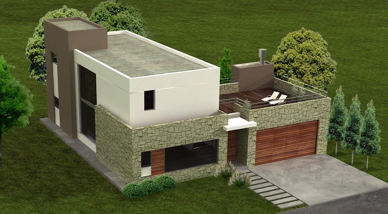 Houses by Estudio Arquitectura Integral, Modern