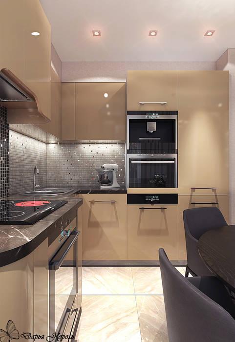 Студия кухня-гостиная с примыканием прихожей: Кухни в . Автор – Your royal design, Минимализм