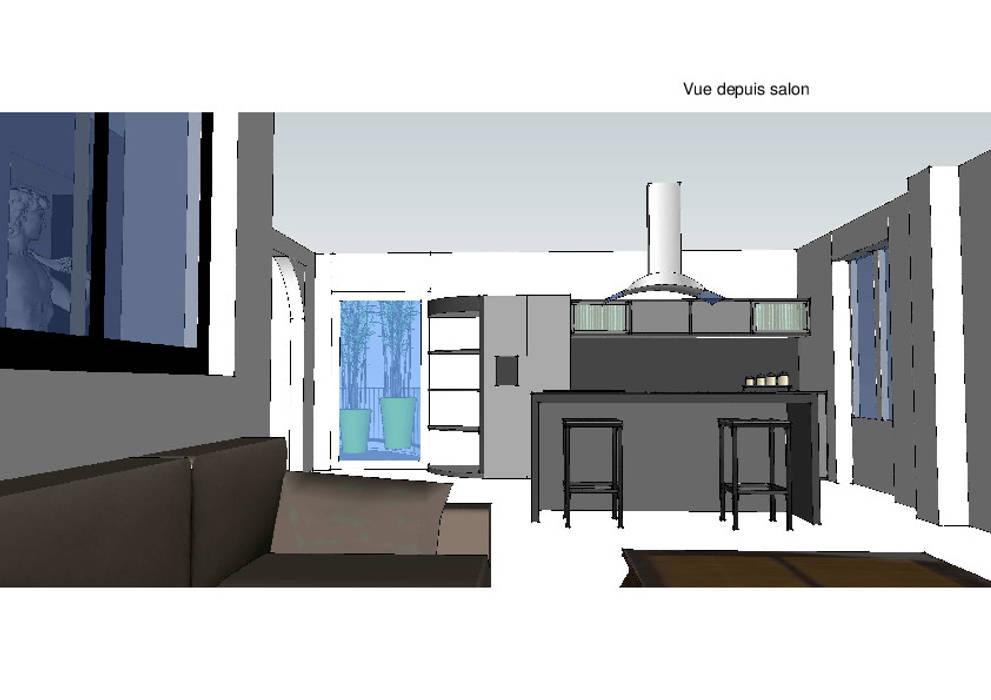 Vue sur l'espace cuisine: Cuisine de style de style Moderne par Vôtre Espace