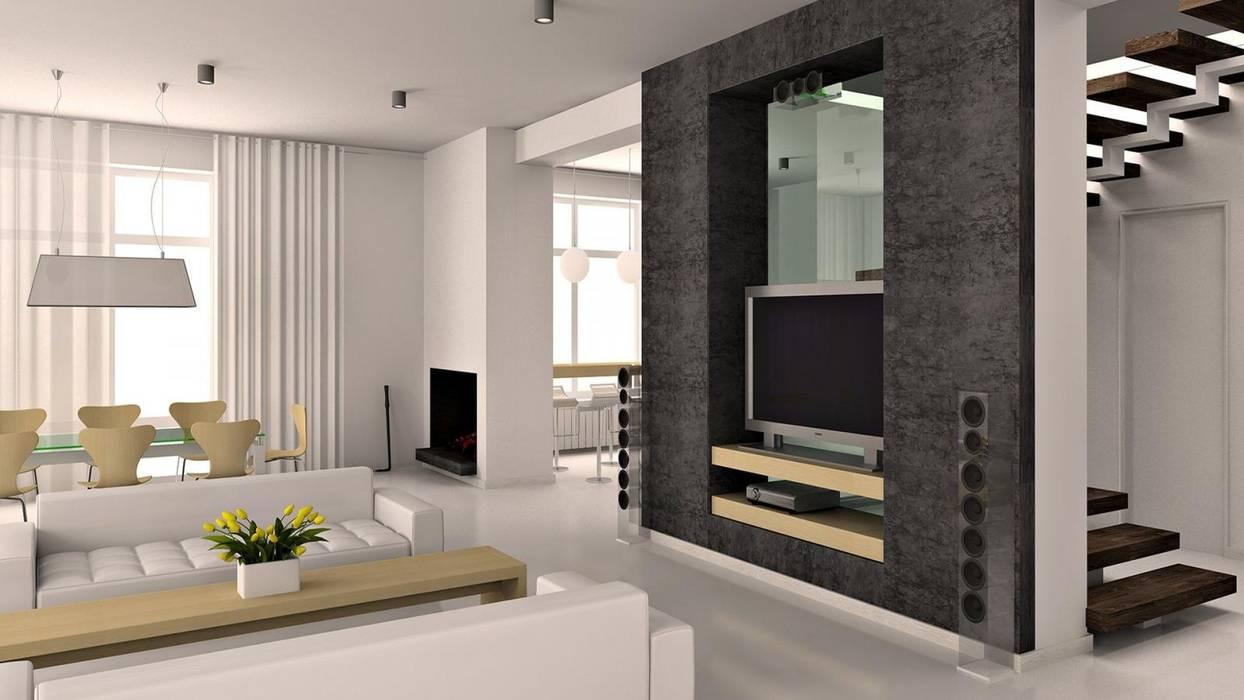 İç Mekan Tasarım ve Uygulamaları Modern Oturma Odası NOUVELLE. | Proje Danışmanlık Modern