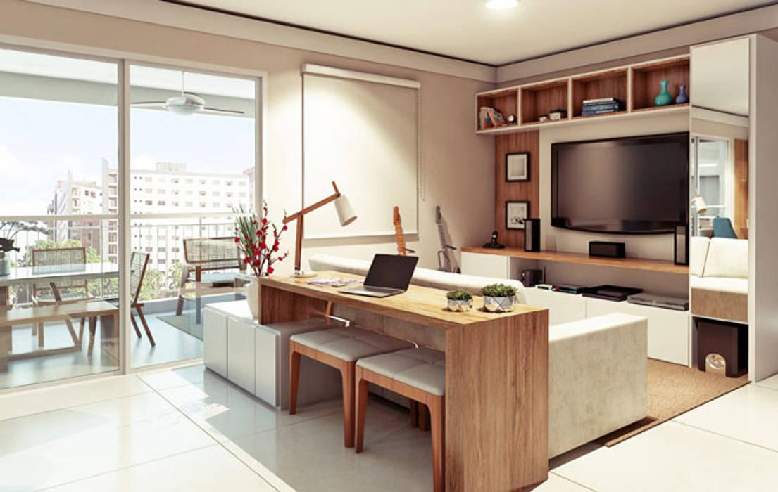 ห้องนั่งเล่น โดย Alessandra Duque Arquitetura & Interiores, โมเดิร์น