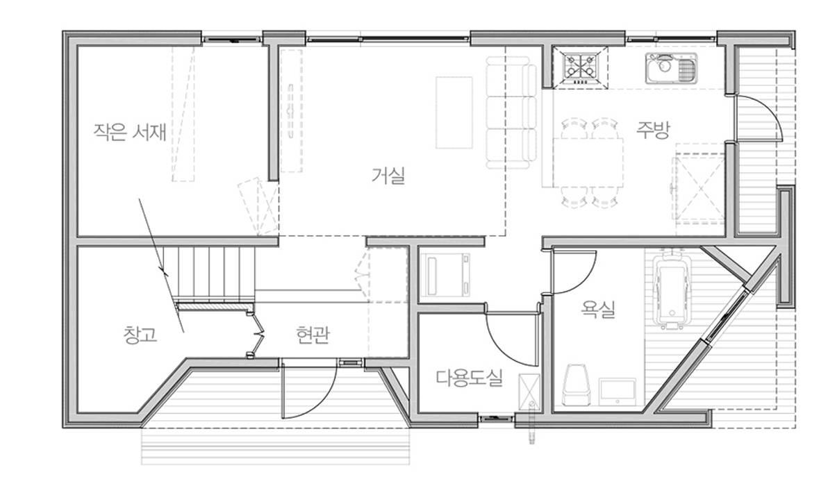 한글주택(주) Moderne Wohnzimmer