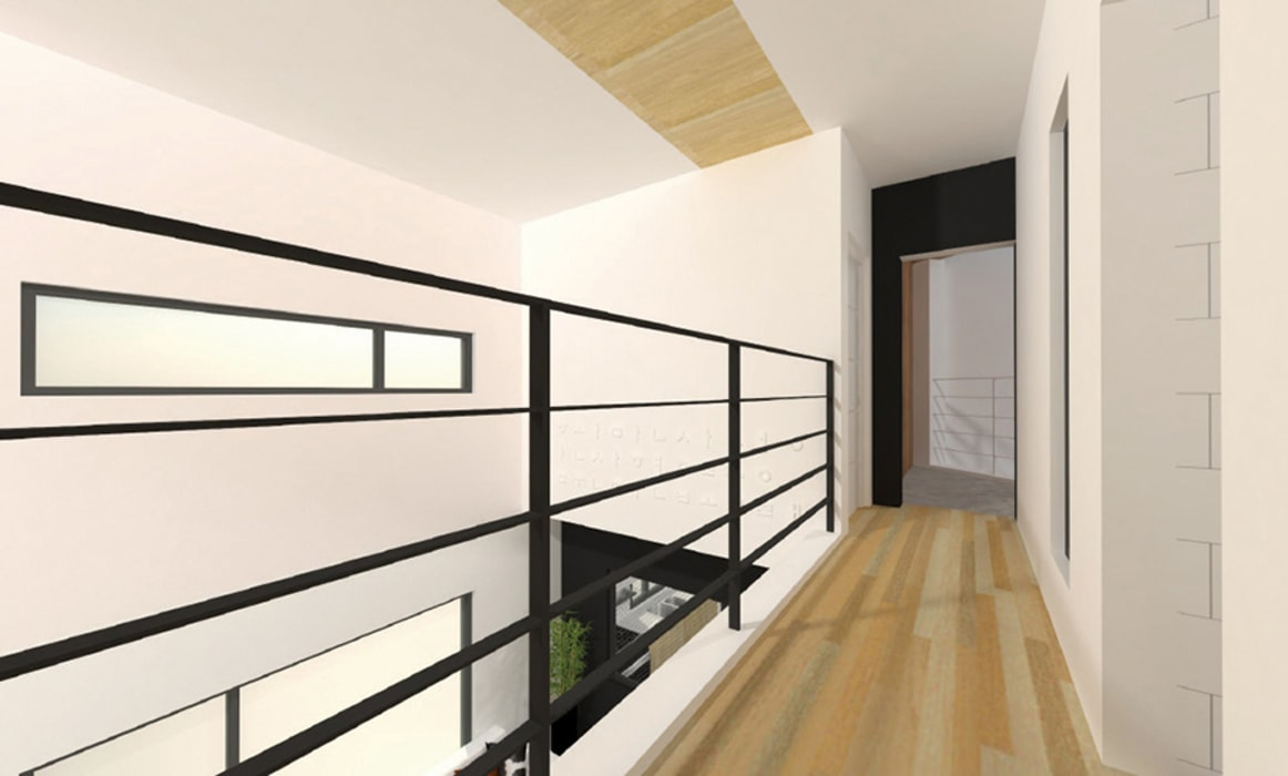 Modern corridor, hallway & stairs by 한글주택(주) Modern