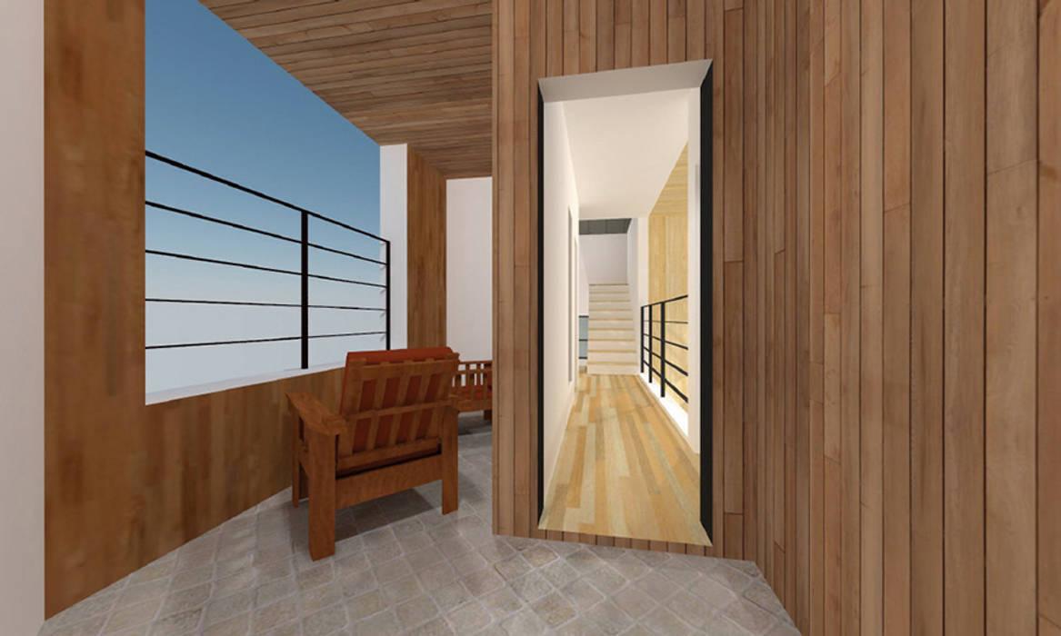 Balcones y terrazas modernos de 한글주택(주) Moderno