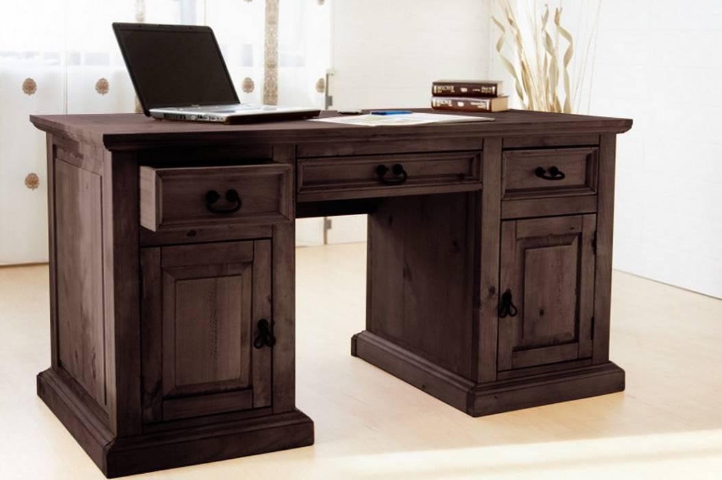 Schreibtisch hacienda pinie massiv bürotisch arbeitstisch ...
