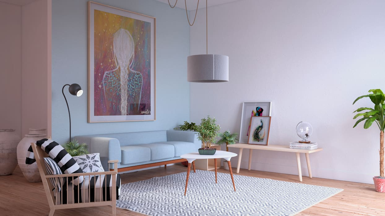 ERC Skandinavische Wohnzimmer