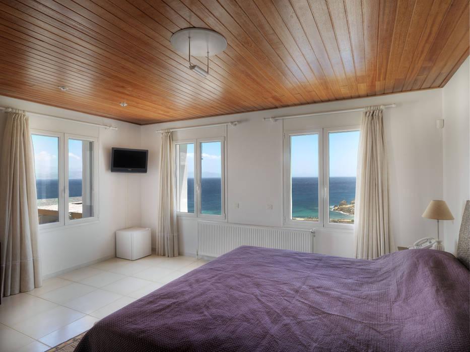 Vila Seacrest - Ilha de Paros - Ciclades - Grécia: Quartos  por Carlos Eduardo de Lacerda Arquitetura e Planejamento ,Mediterrâneo
