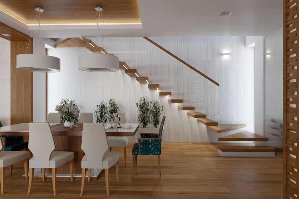 Salas de jantar modernas por TutajConcept Moderno