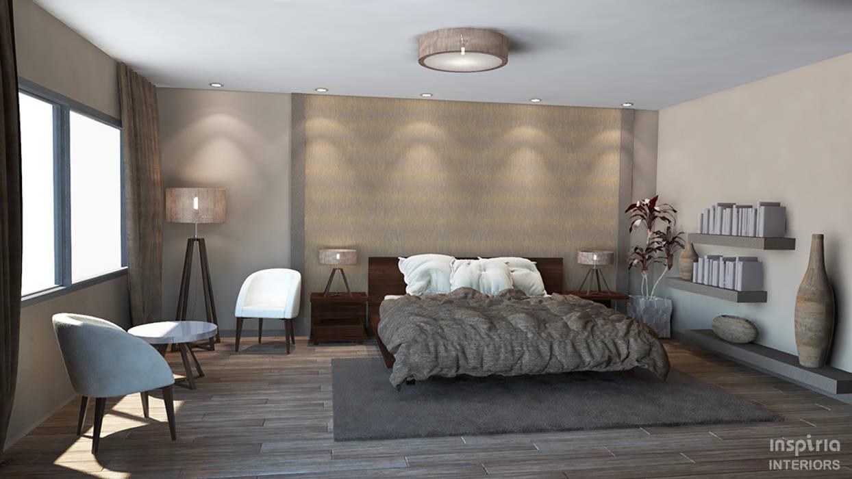 House Renovation, Mexico. Bedroom:  Bedroom by Inspiria Interiors, Modern