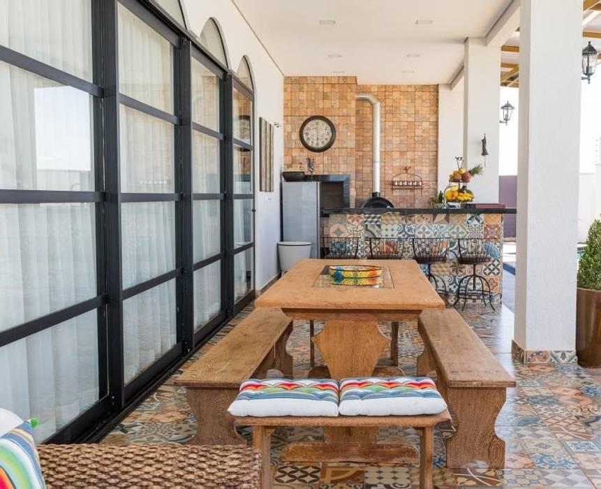 Balcon, Veranda & Terrasse originaux par Marcelo Lopes Arquitetura Éclectique