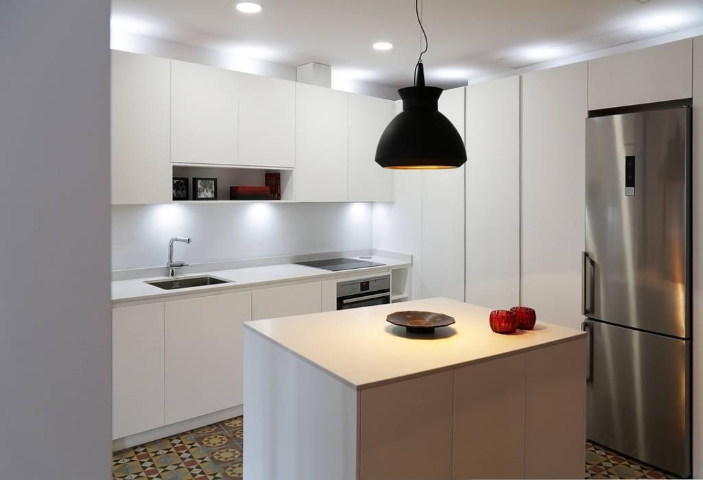 Dise o de cocina con isla en madrid cocinas de estilo for Diseno de cocinas madrid