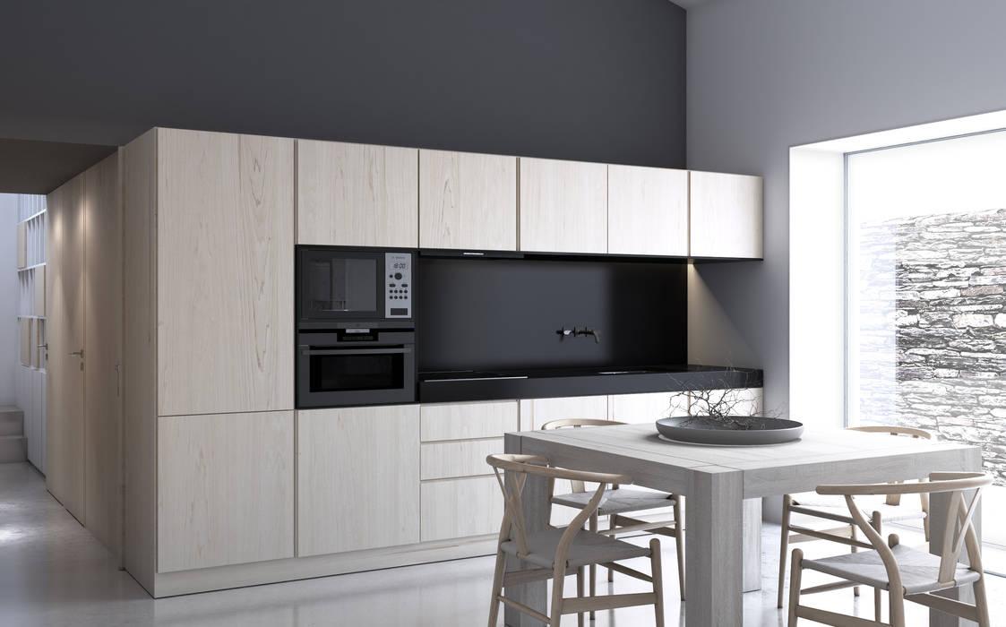 Volume funcional da Cozinha Cozinhas minimalistas por Varq. Minimalista