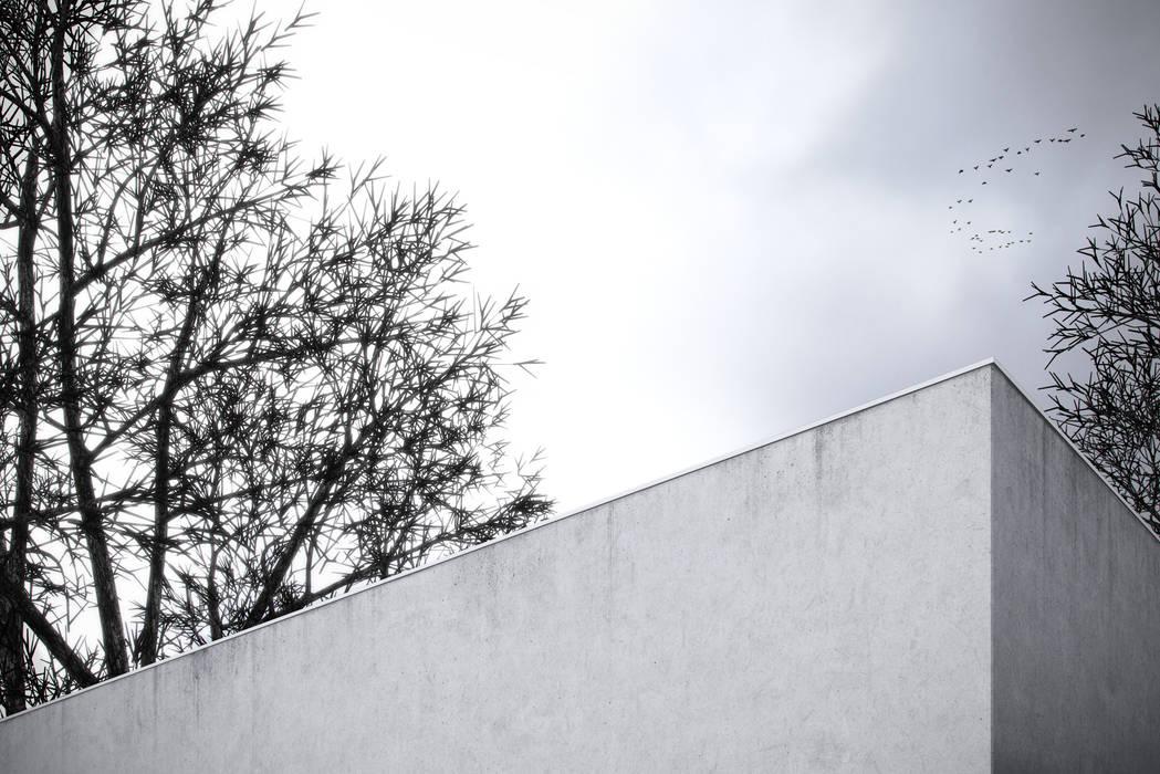 Fachada exterior Casas minimalistas por Varq. Minimalista