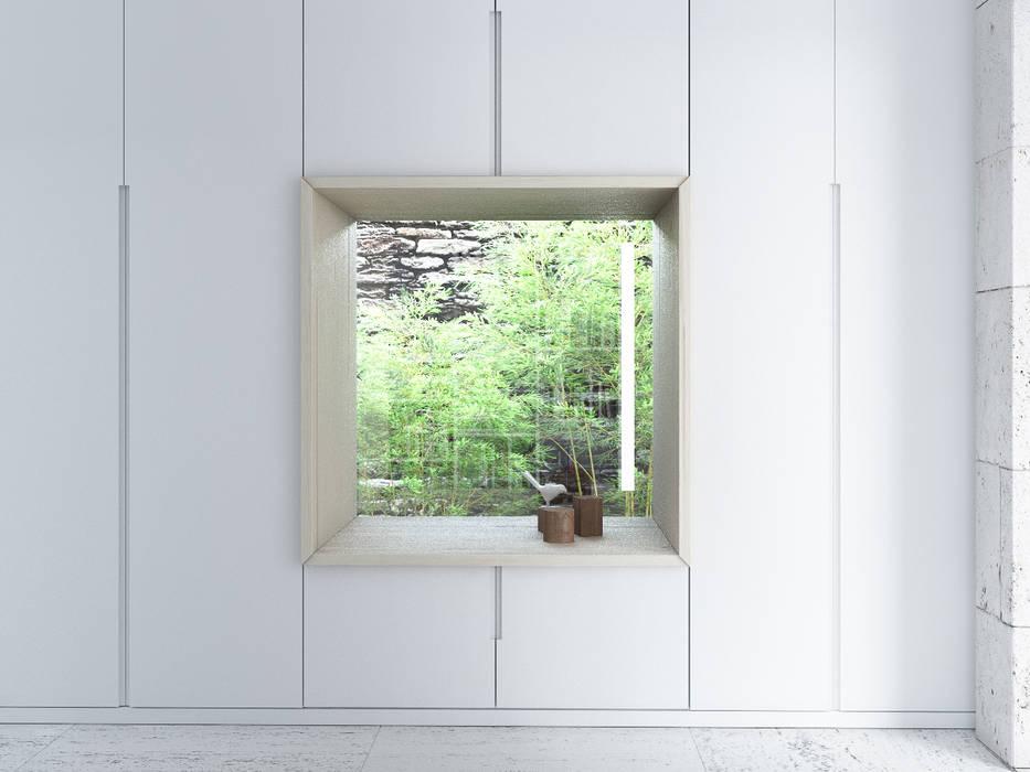 nicho de leitura vista 2 Varq. Espaços de trabalho minimalistas
