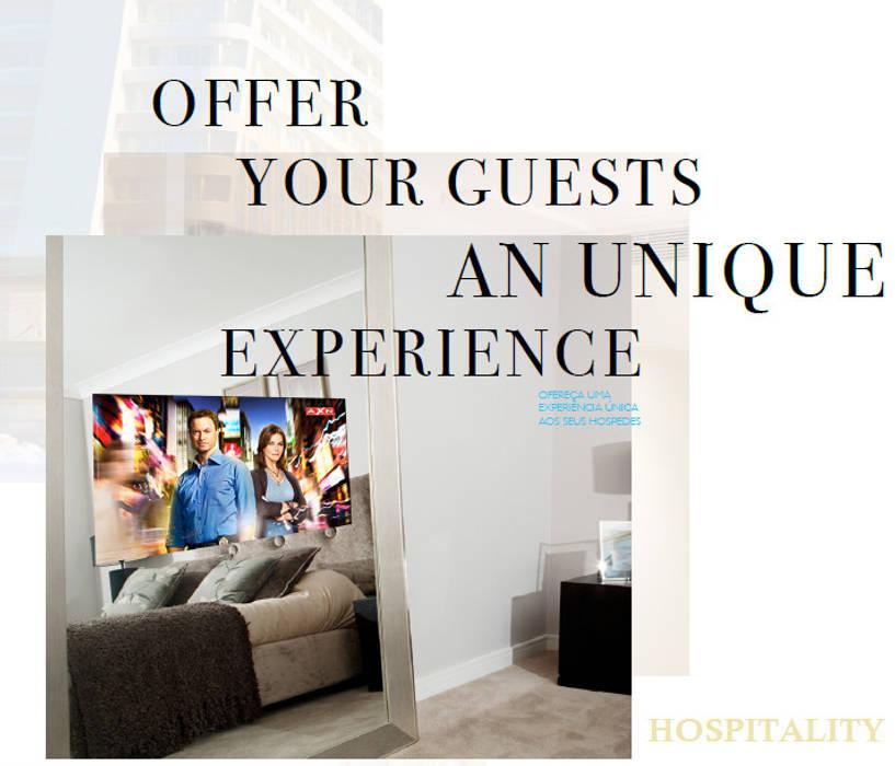 IllusionTV Hospitality Quartos modernos por Glassinnovation Illusion Magic MirrorTV Moderno