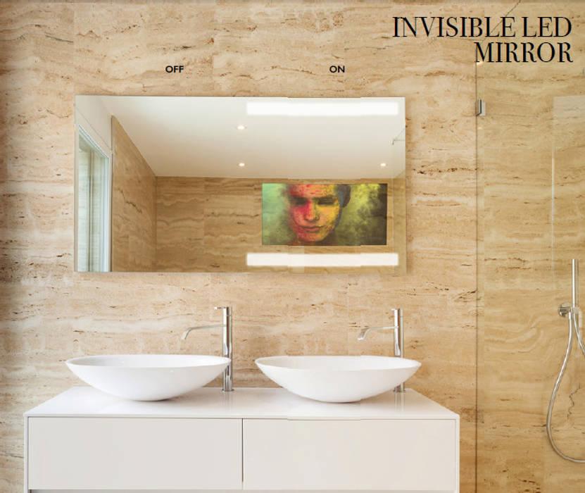 Invisible Mirror: Casas de banho  por Glassinnovation - Glass'IN