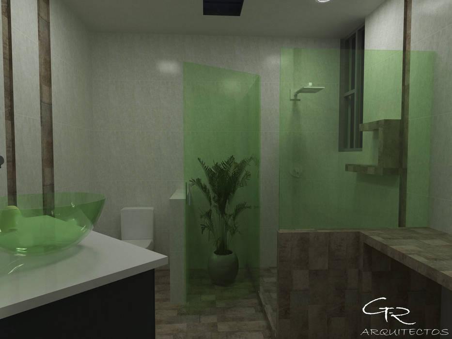 House Paraíso: Baños de estilo  por GT-R Arquitectos