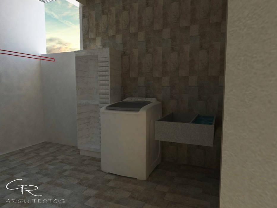 House Paraíso: Pasillos y recibidores de estilo  por GT-R Arquitectos