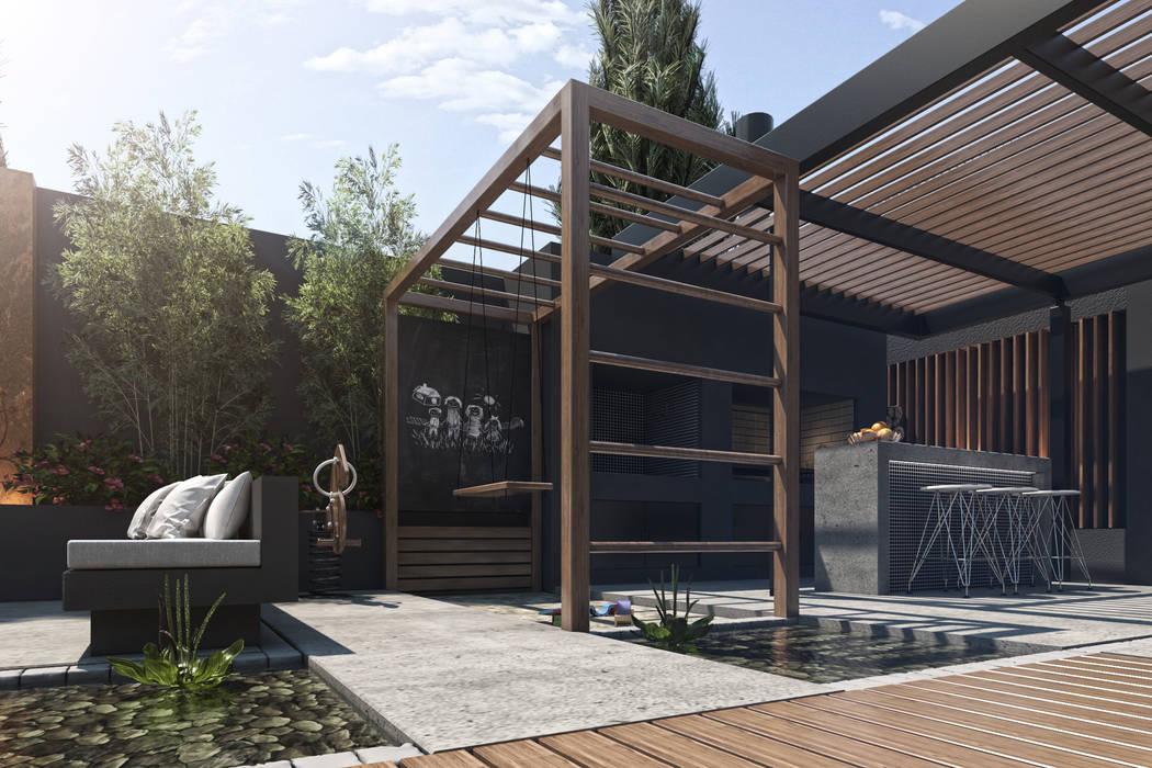 Espacio juegos Balcones y terrazas modernos: Ideas, imágenes y decoración de TDC - Oficina de arquitectura Moderno