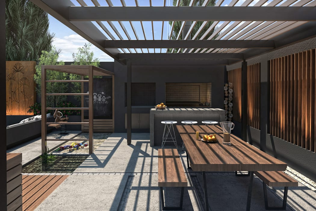 Modern Terrace by TDC - Oficina de arquitectura Modern