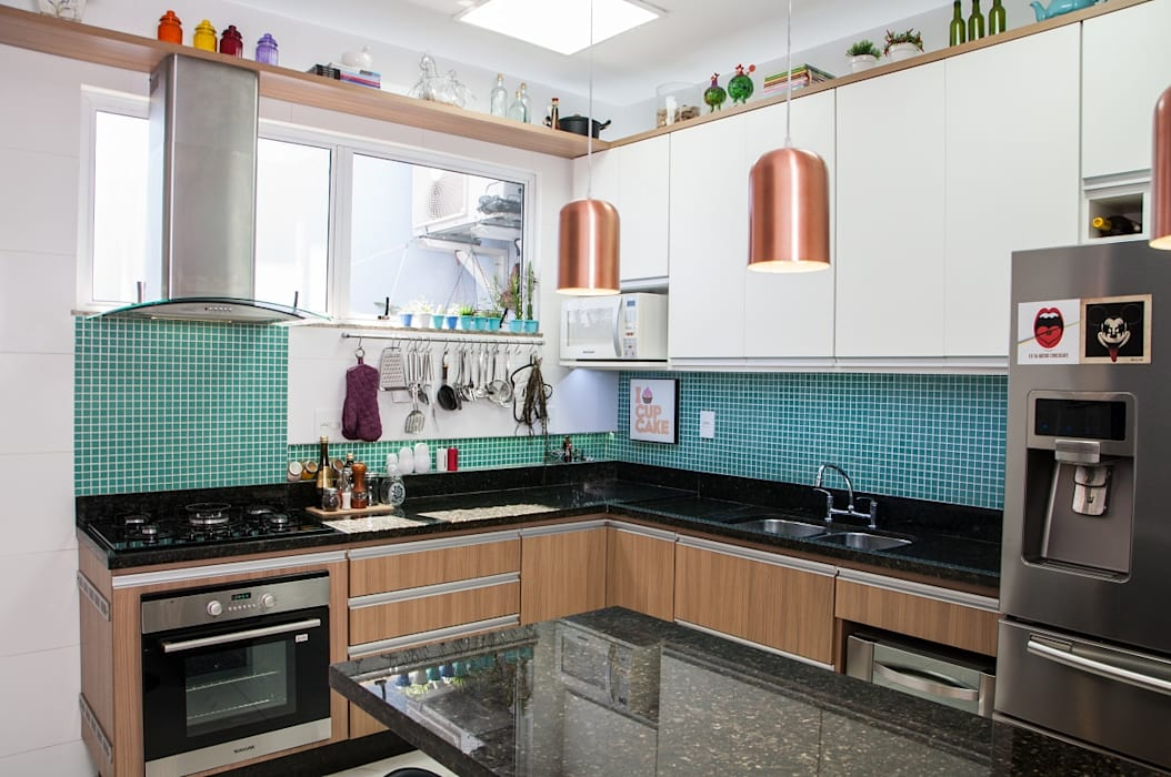 Adoro Arquitetura 現代廚房設計點子、靈感&圖片 木頭 Green