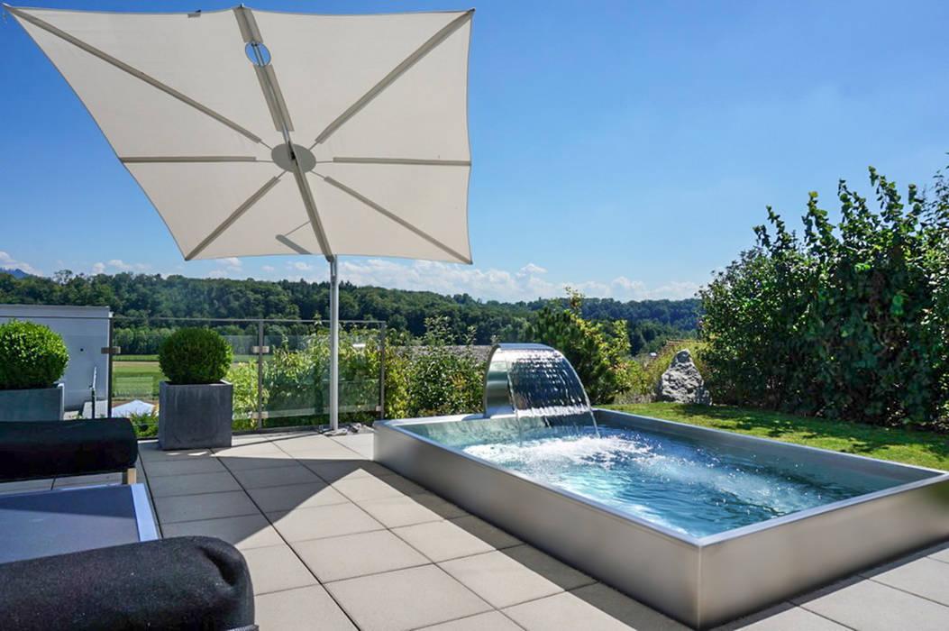 POLYTHERM Edelstahl-Whirlpool Moderne Pools von Polytherm GmbH. Modern