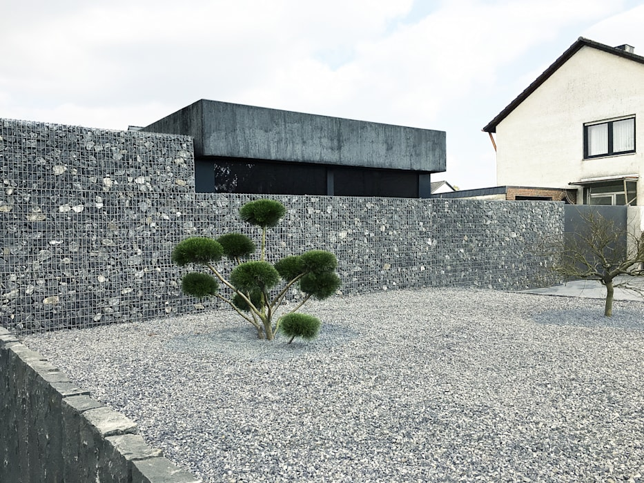 Garage/schuur door ZHAC / Zweering Helmus Architektur+Consulting, Modern Beton
