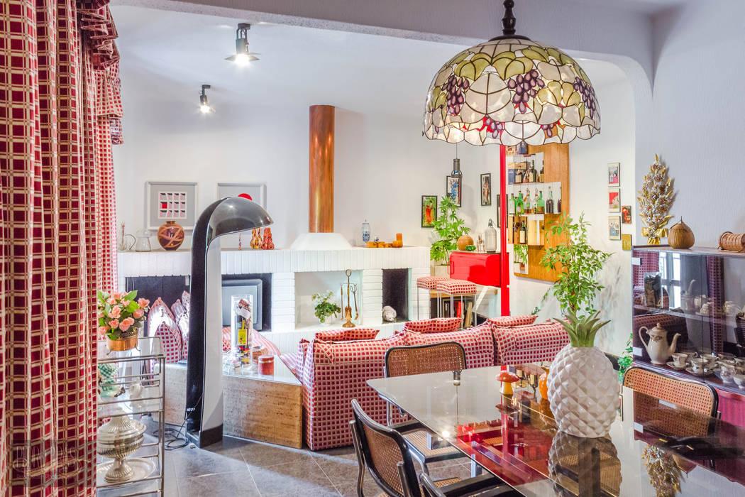 Sala de Jantar Salas de jantar mediterrânicas por Pedro Brás - Fotógrafo de Interiores e Arquitectura | Hotelaria | Alojamento Local | Imobiliárias Mediterrânico