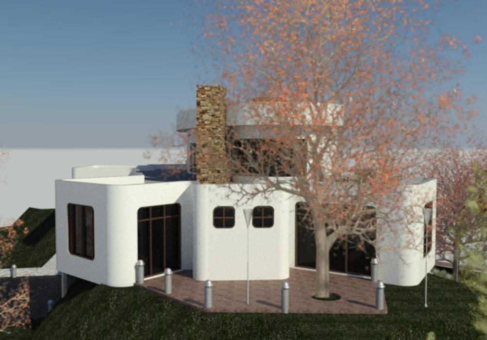 Fachada Lateral Derecha: Casas de estilo  por Bioarke Construcciones C.A.