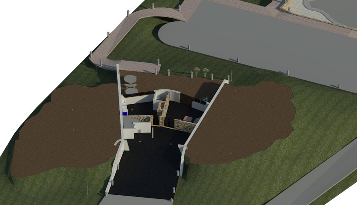 Sótano / Estacionamiento.: Oficinas de estilo minimalista por Bioarke Construcciones C.A.