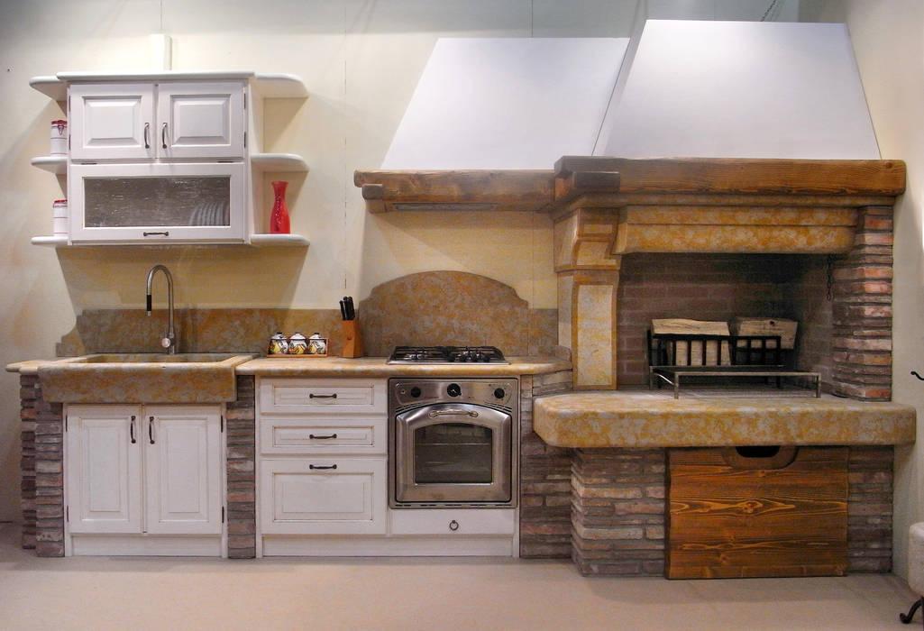 Cucina rustica 1: cucina in stile di salm caminetti, rustico ...