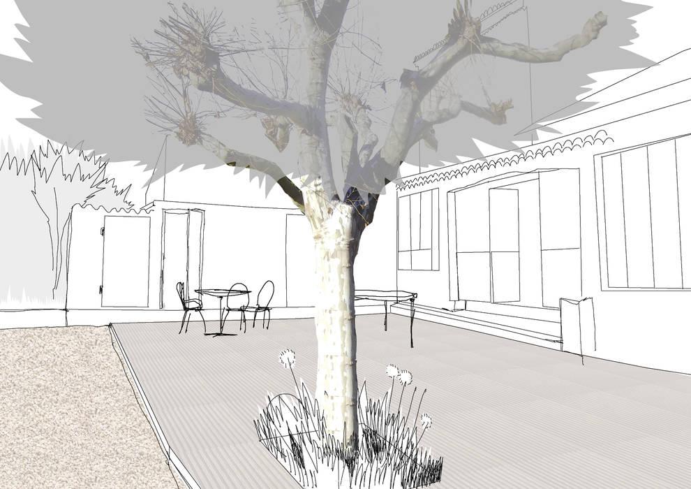 Etat projet: Jardin de style de style Méditerranéen par Atelier Pierre David Paysagiste