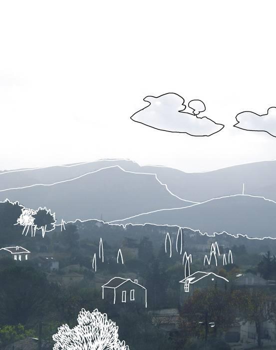Vue sur le Massif des Calanques et la Vallée de l'Huveaune au sud: Jardin de style de style Méditerranéen par Atelier Pierre David Paysagiste