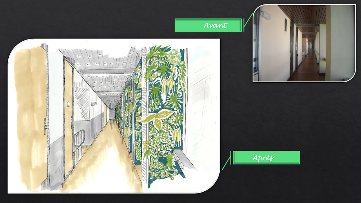 Avant-Après (simulation / professionnel): Bureaux de style  par JC Créations d'intérieurs