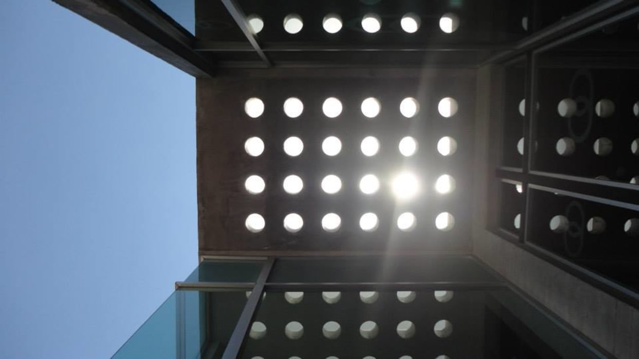 Detalle losa: Casas de estilo minimalista por Diez y Nueve Grados Arquitectos