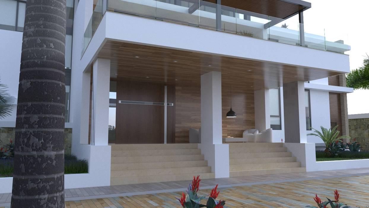 Acceso vivienda: Casas de estilo  por Area5 arquitectura SAS