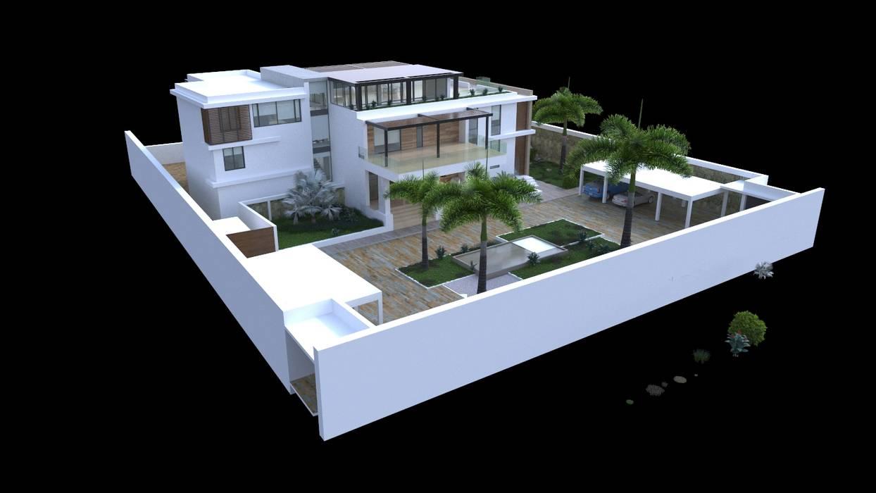 Volumetría del proyecto: Casas de estilo moderno por Area5 arquitectura SAS