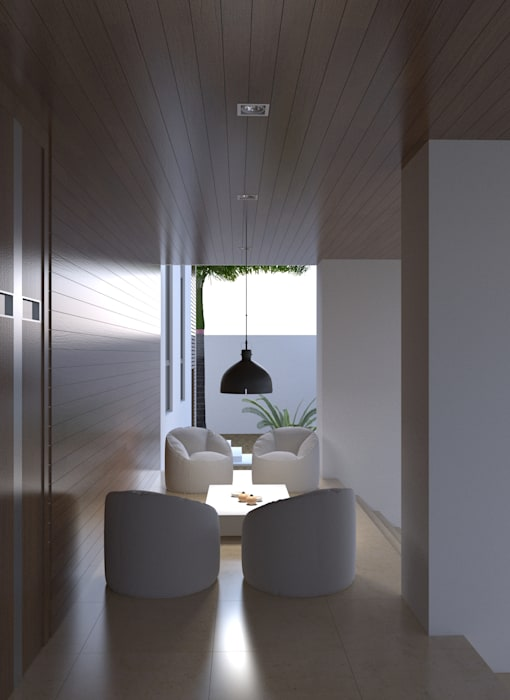 Porche exterior Balcones y terrazas de estilo moderno de Area5 arquitectura SAS Moderno