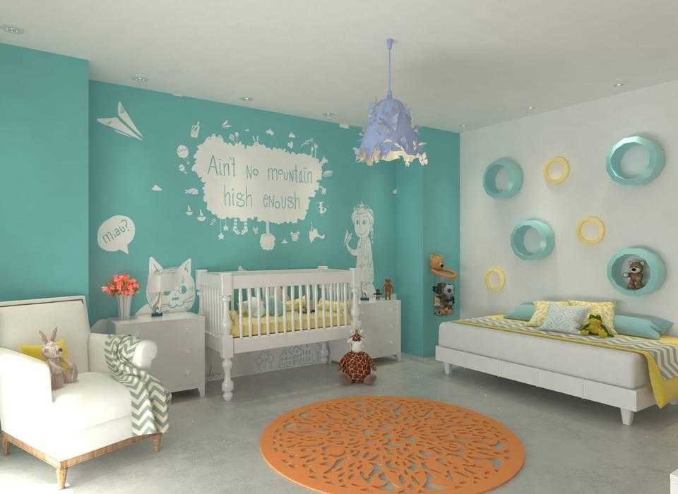 Dormitorio infantil Habitaciones para niños de estilo moderno de Area5 arquitectura SAS Moderno