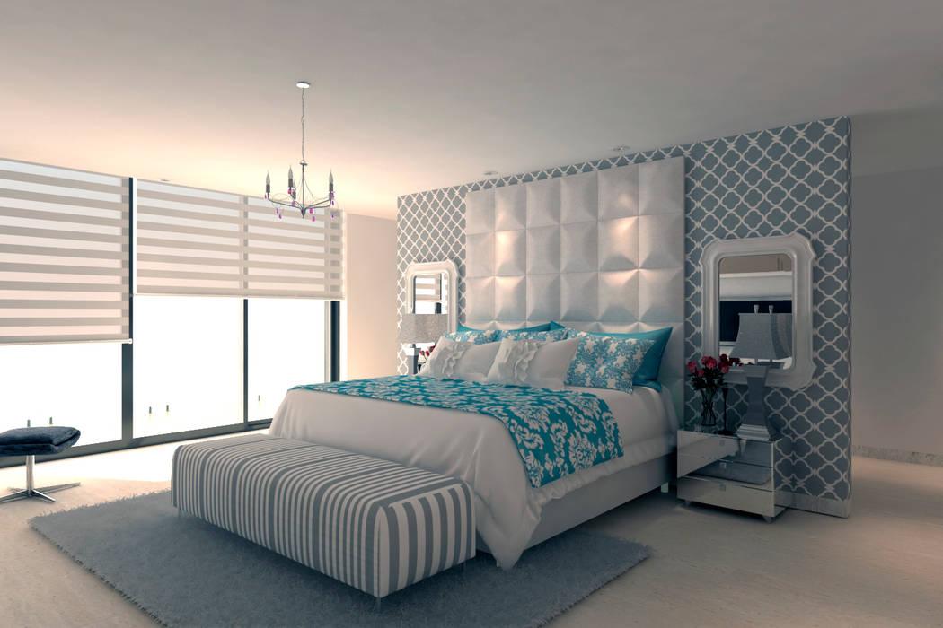 Dormitorio principal: Habitaciones de estilo  por Area5 arquitectura SAS