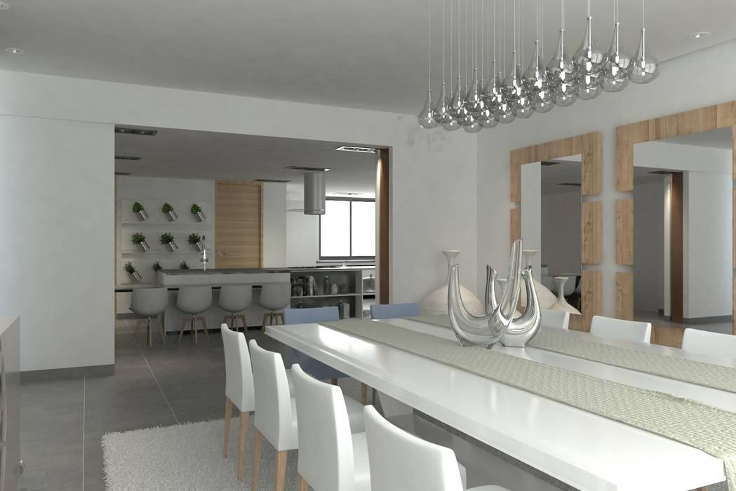 Comedor Comedores de estilo moderno de Area5 arquitectura SAS Moderno