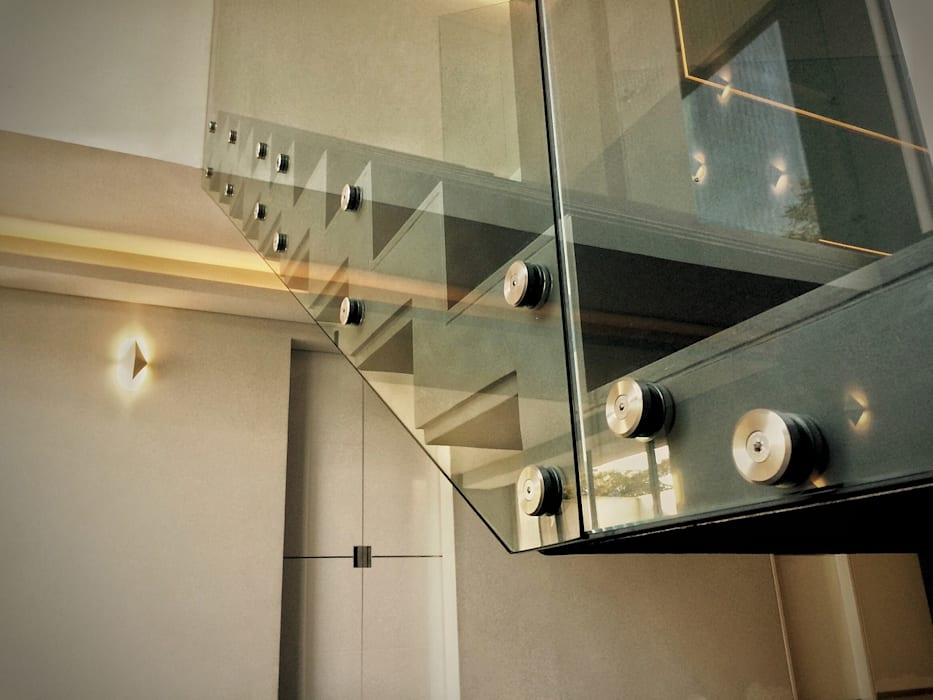 Casa la Reserva las Animas Pasillos, vestíbulos y escaleras modernos de BCA Arch and Interiors Moderno