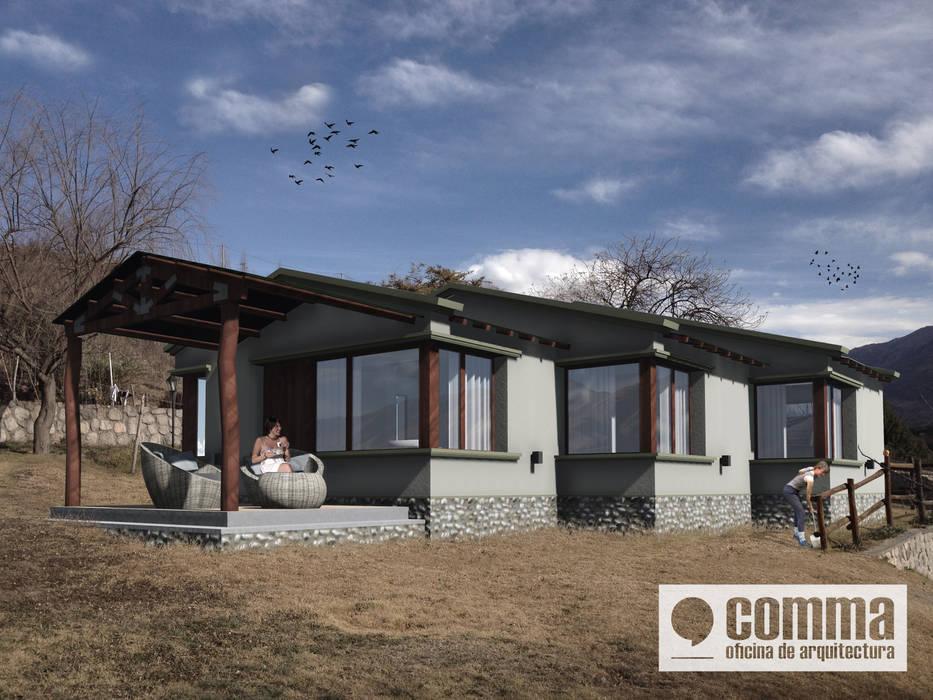 Nhà phong cách đồng quê bởi Comma - Oficina de arquitectura Đồng quê
