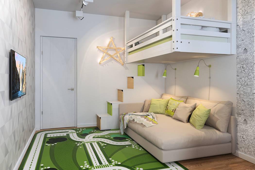 Светло и просторно: Детские комнаты в . Автор – Гузалия Шамсутдинова | KUB STUDIO