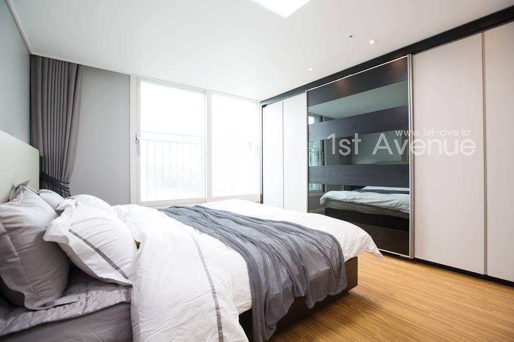 감각적인 패턴과 감성이 있는 인테리어 퍼스트애비뉴 모던스타일 침실